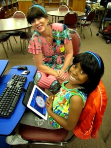 Anna and Quianday, the third grade student she mentors