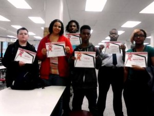 Students pose with their Viking 180 certificates